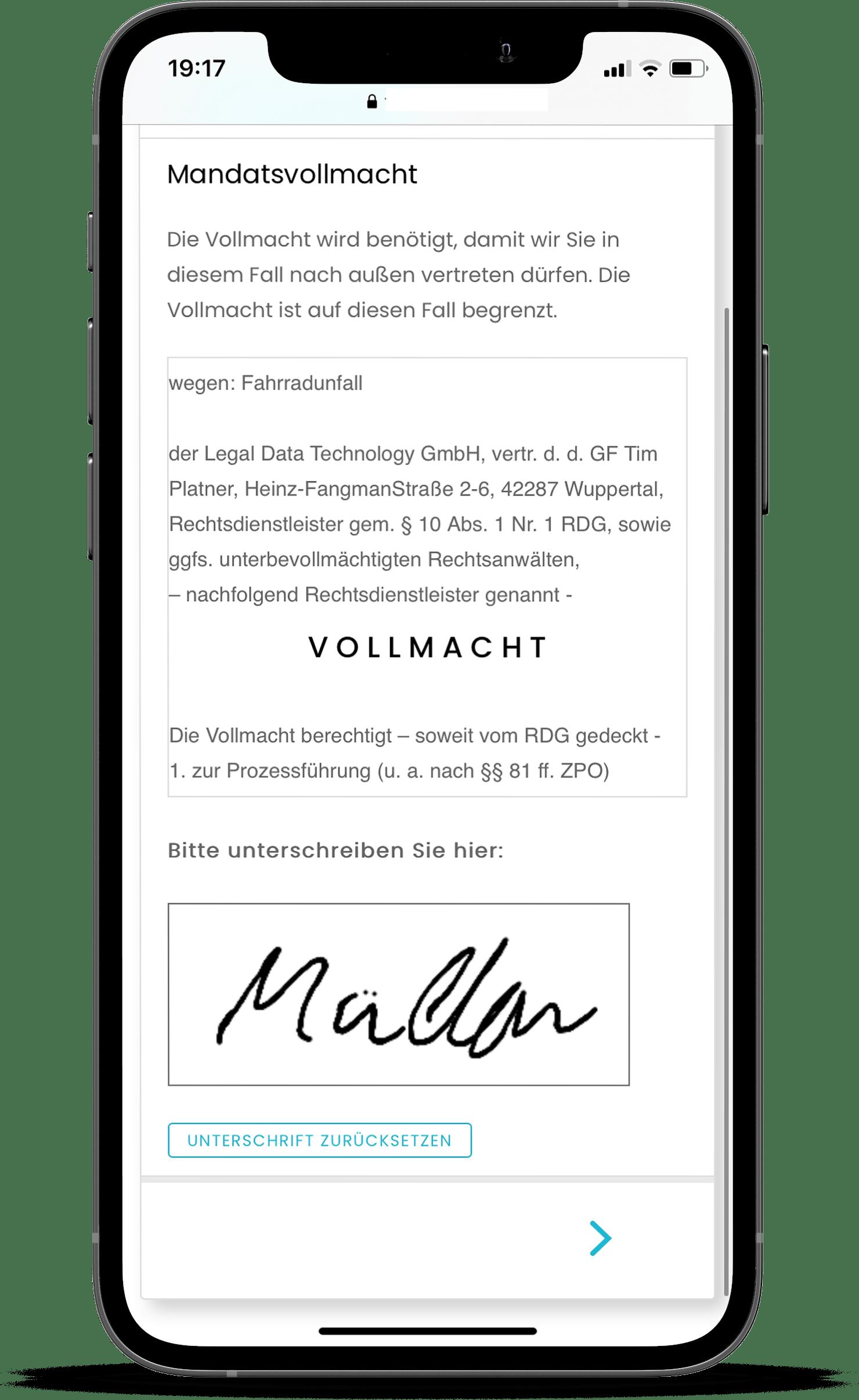 Legal Tech Vollmacht